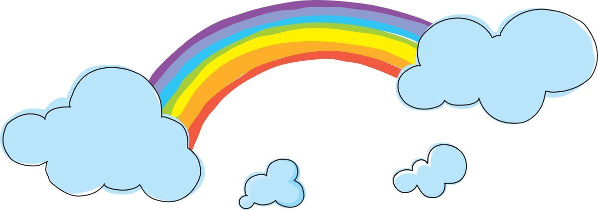 Favori Adesivi Murali: L'arcobaleno | LeoStickers AR11